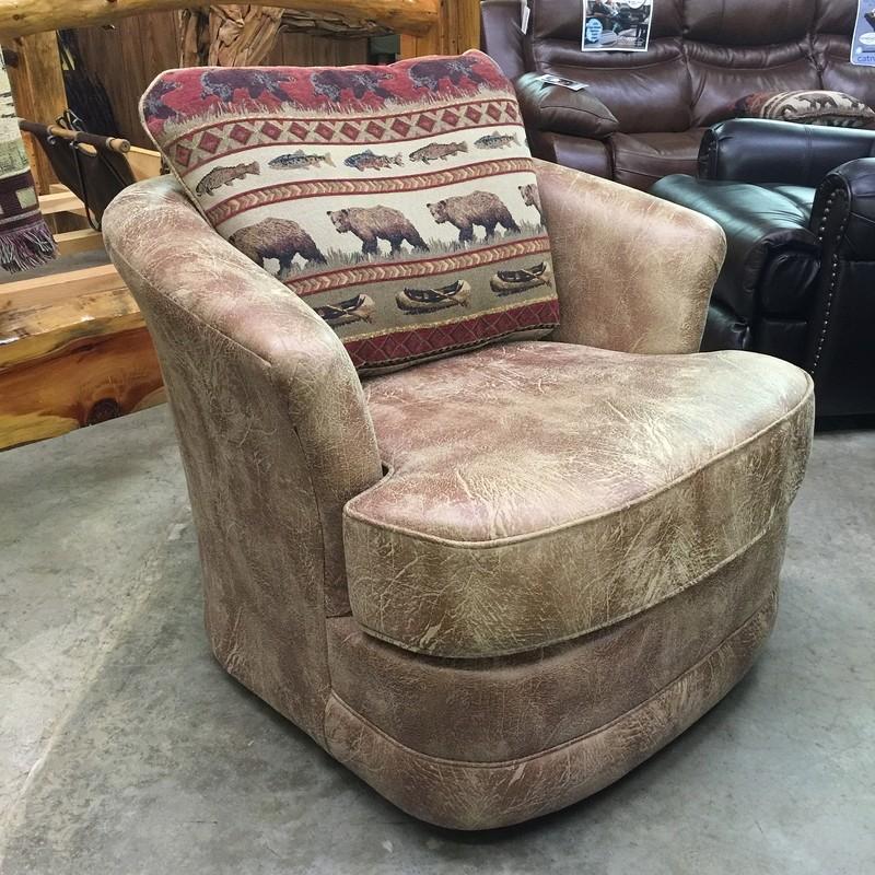 Barrel Chair Swivel Glider