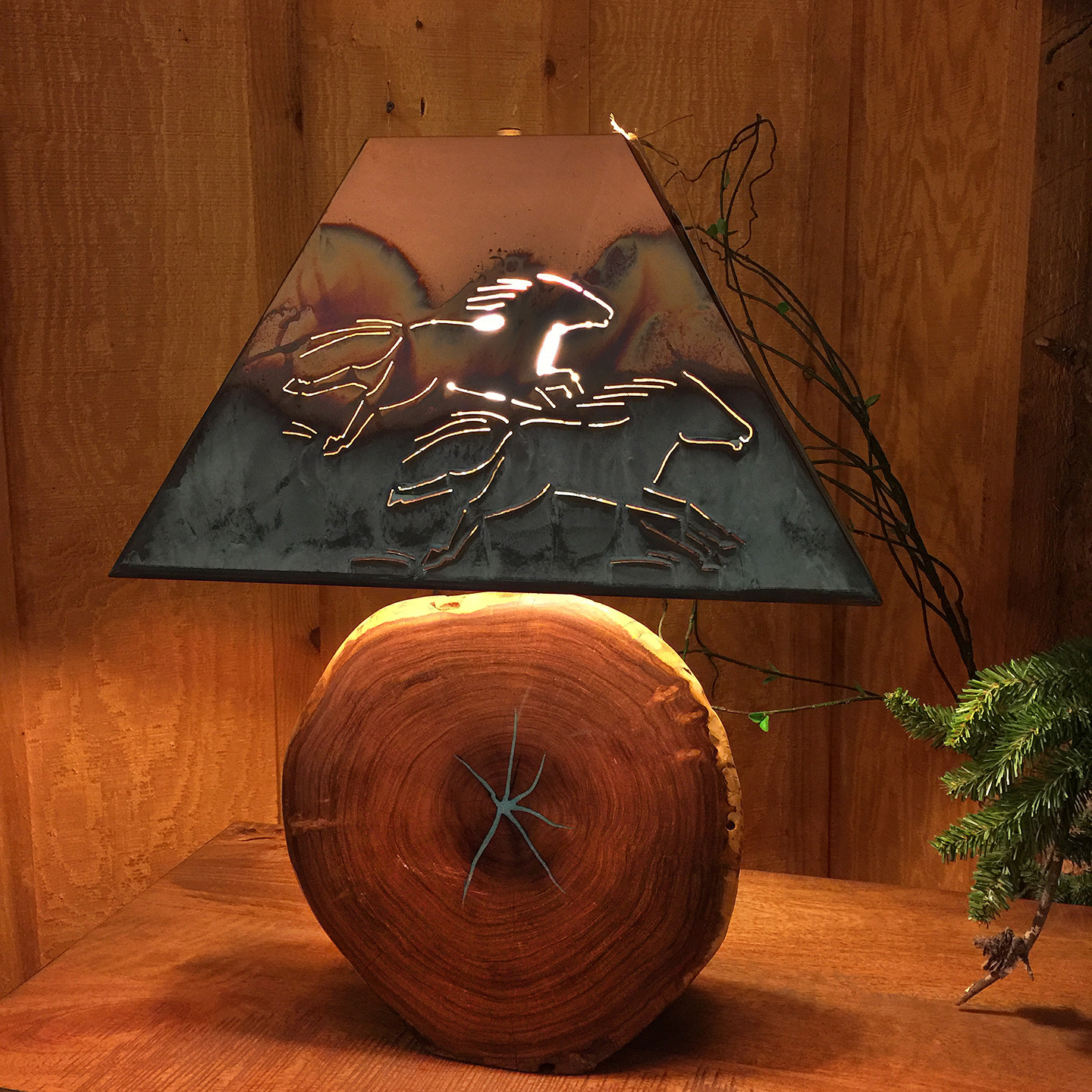 Mesquite Lamp with Copper Shade