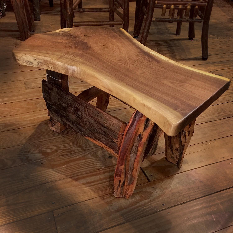 Rustic Walnut Coffee Table