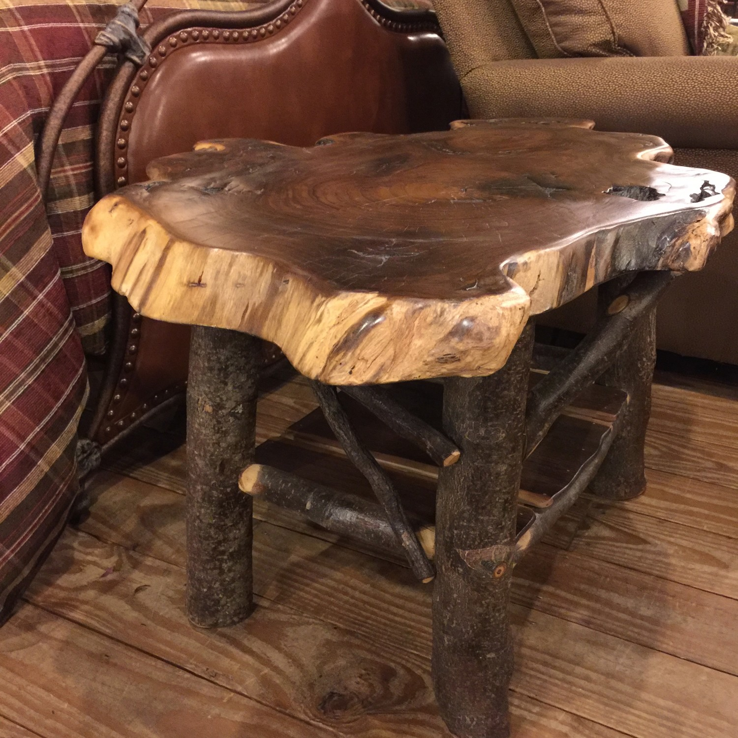 Walnut Coffee Table With Magazine Rack