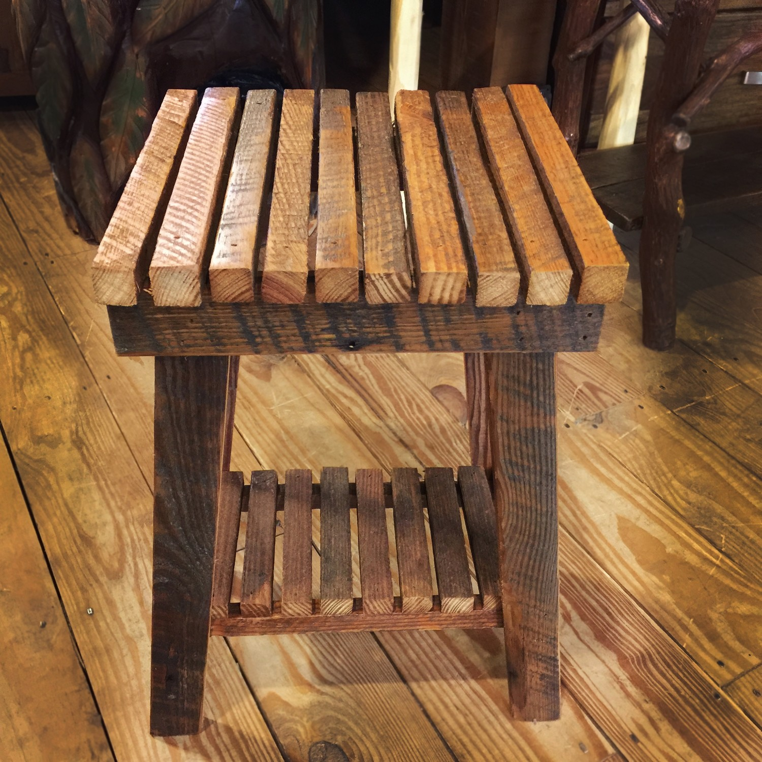 Tobacco Stick End Table