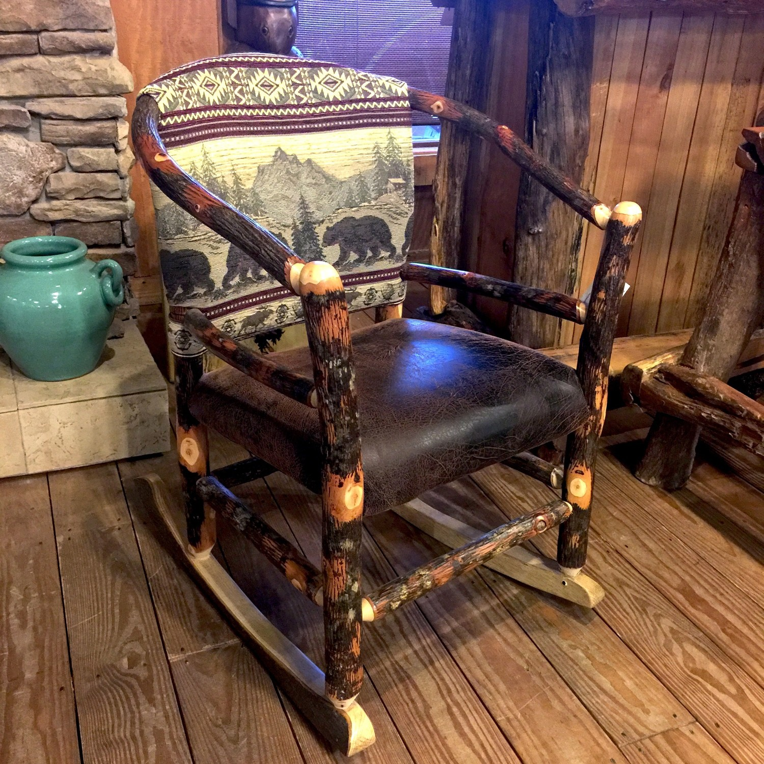 Hickory Hoop Rocker Upholstered