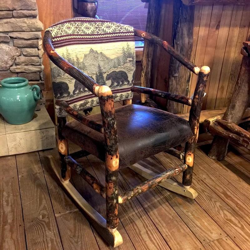 Hickory Hoop Rocker Upholstered