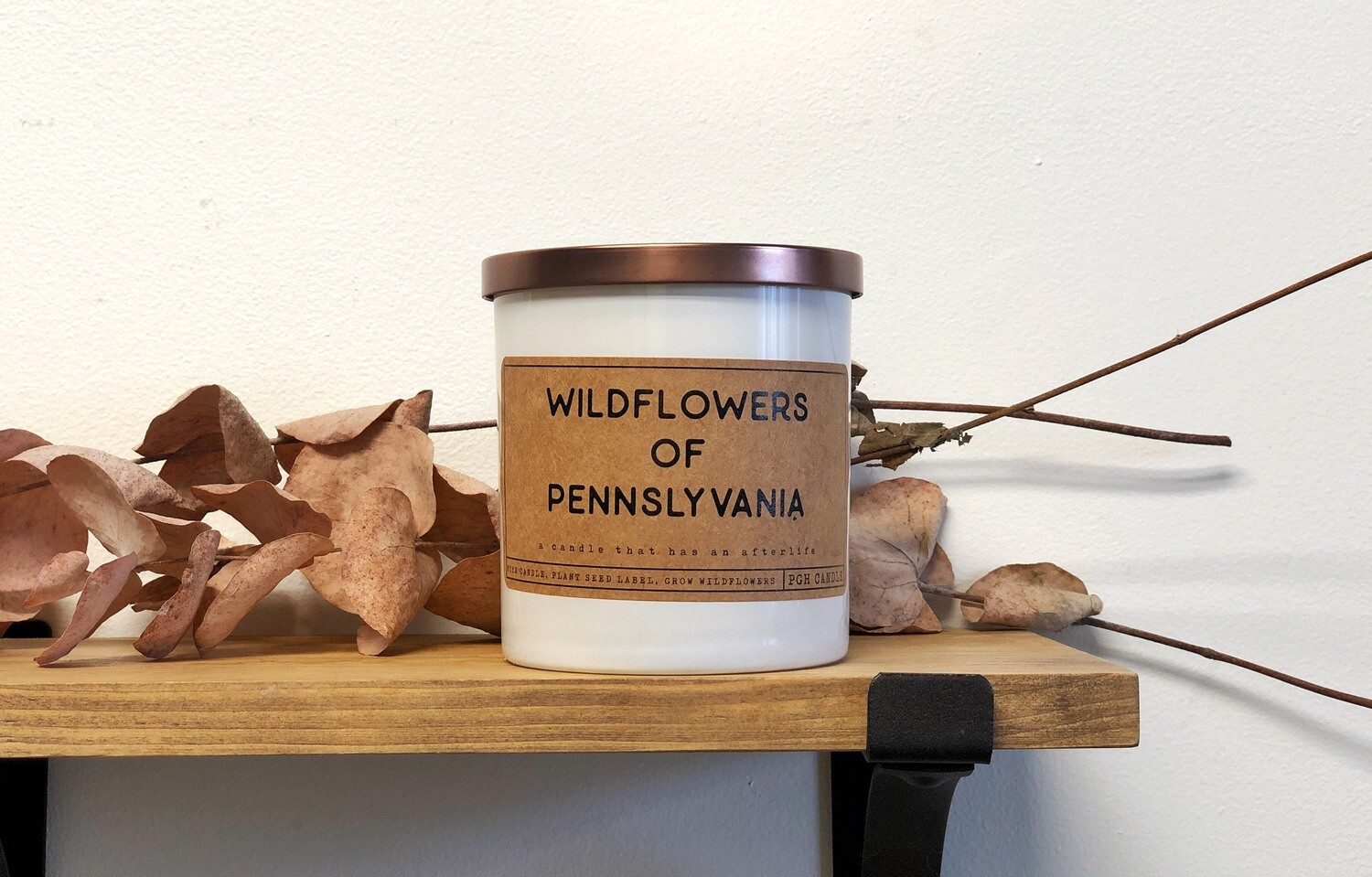 Wildflower reusable candle