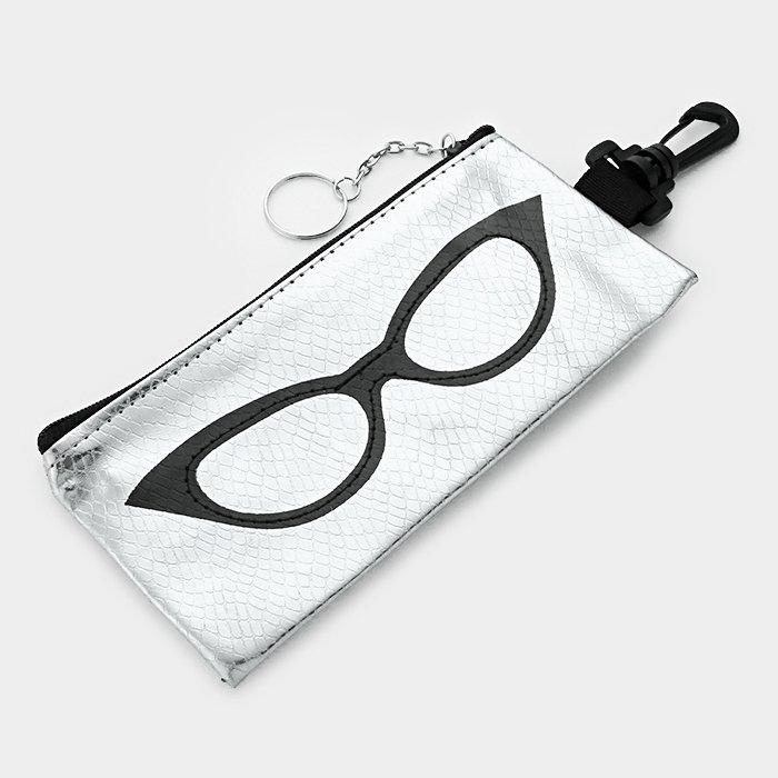 Silver Eyeglass Case