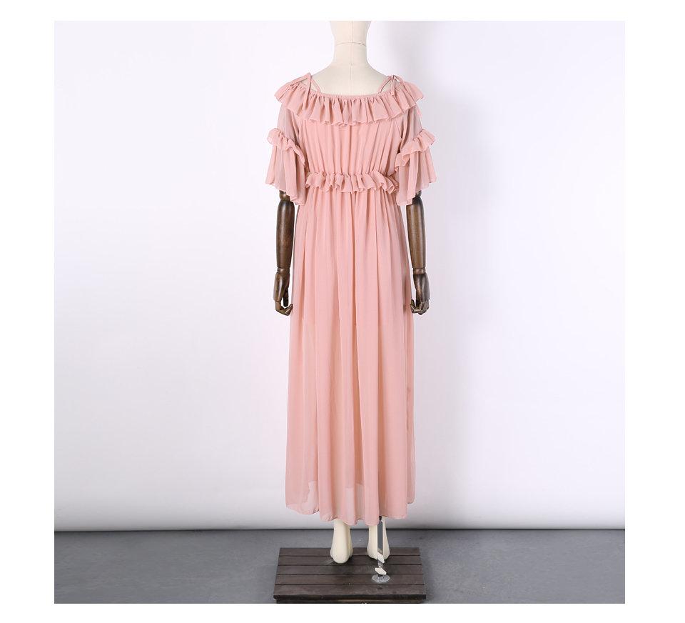 Pink Chiffon Maxi Dress