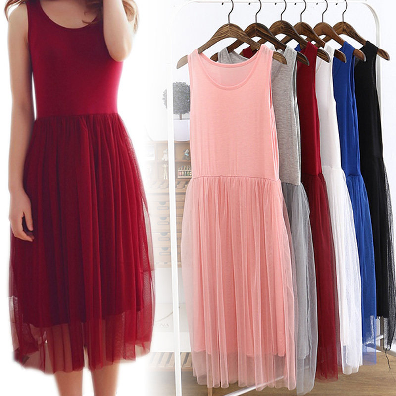 Tulle Slip Dress