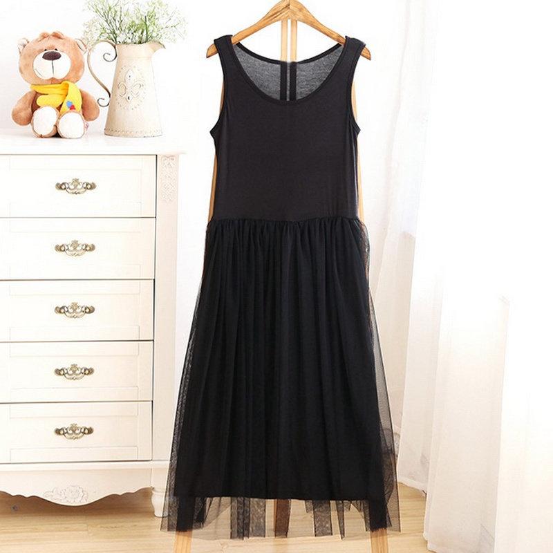 Black Lacy Slip Dress