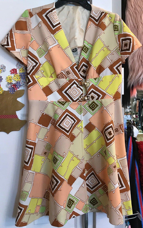 Polyester Knit Vintage Dress