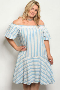 Plus Stripe Dress