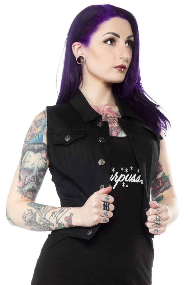 Sourpuss Black Vest