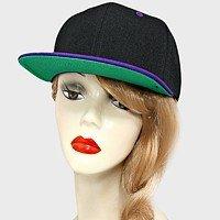Black Cap Purple Brim