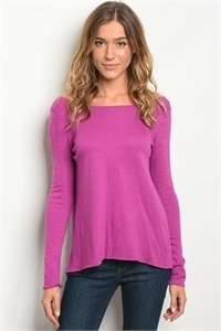 Magenta Sweater Top