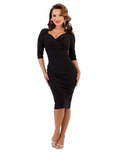 Steady Black 3/4 Sleeve Dress