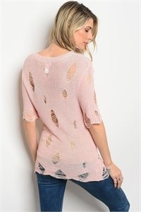 Pink Distress Top