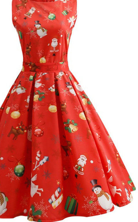Red Christmas Pin Up Dress