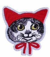 Red Hooded Cat Patch