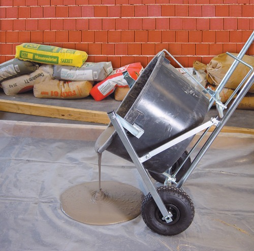 Bucket Cart Mix Transport Poor Grout, Adhesive & Level Compound