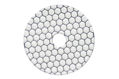"Gluide Dry 4"" Diamond Polishing Pad White Buff"