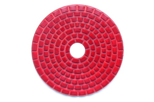 "DIAFLEX 4"" Wet Polishing Pad 220 Grit Red"