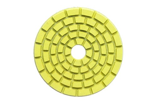 "E Series 5"" Wet Polishing Disc 100 Grit Yellow"