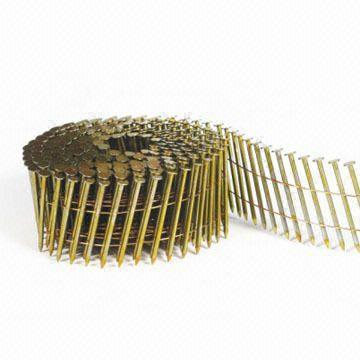 """Hitachi 2-1/4""""x.092 Smooth 13366 Hot Gal Wire Coil Siding Nails"""