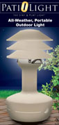PatiOlight PL100 All Weather, Ajustable Shades, Tan