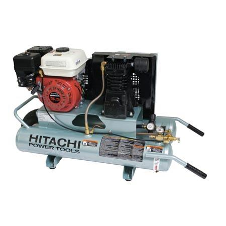 Hitachi EC25E 5-1/2hp Gas Air Compressor, Oil Lubricated