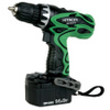 "Hitachi DS14DVF3 14.4V Cordless3/8""Driver Drill Kit w/Flashlight"