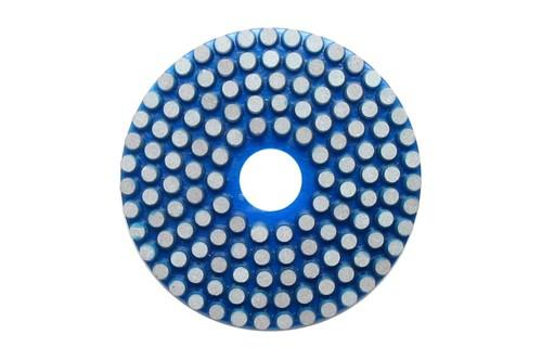 """Vitrified 4"""" Wet Polishing Disc 60 Grit Blue"""