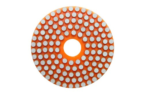 "Vitrified 4"" Wet Polishing Pad 300 Grit Orange"