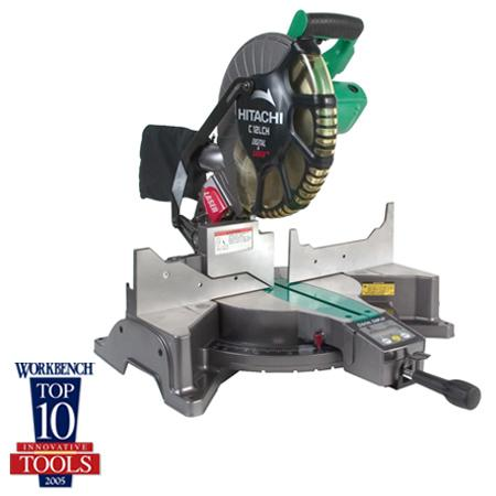 "Hitachi C12LCH 12"" Compound Miter Saw with LCD Display & Laser M"