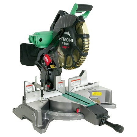 "Hitachi C12LDH 12"" Dual Compound Miter Saw w/LCD Display/laser"