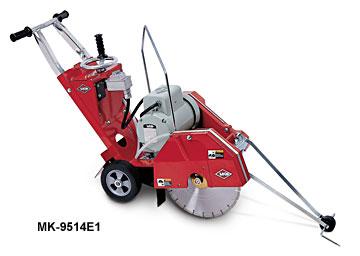 "MK Diamond 9514E1 5HP 14"" Concrete Saw 230V Single Phase Baldor"