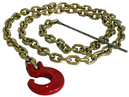 Choker chain 6 mm x 2.1 m (1/4'' x 7') with C-Hook and steel rod