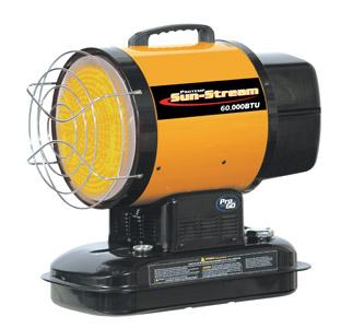 Protemp Sunstream 55,000BTU Oil 110V Radiant Heater