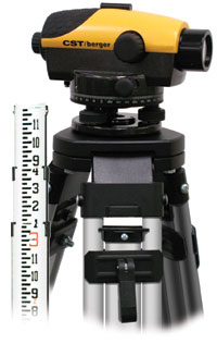 CST/berger 55-PLVP26D PAL 26X kit w/ Tripod & Rod, Degrees