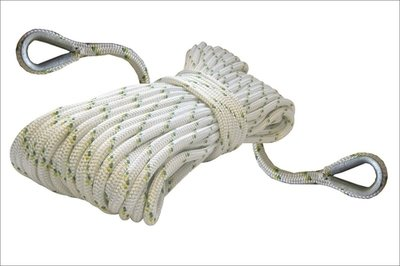 Double braided polyester rope - 12 mm x 300 m (1/2'' x 984') w/2 eye splices.