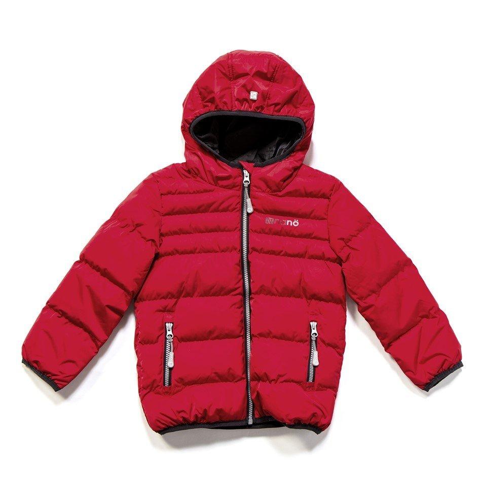 Manteau bubble rouge, hiver