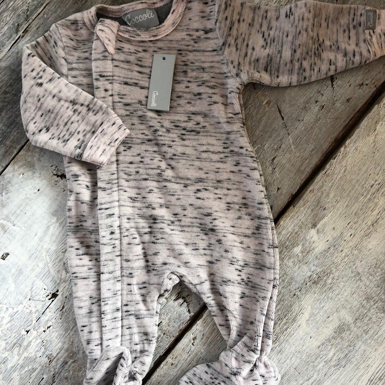 Pyjama Velour Rose Pâle