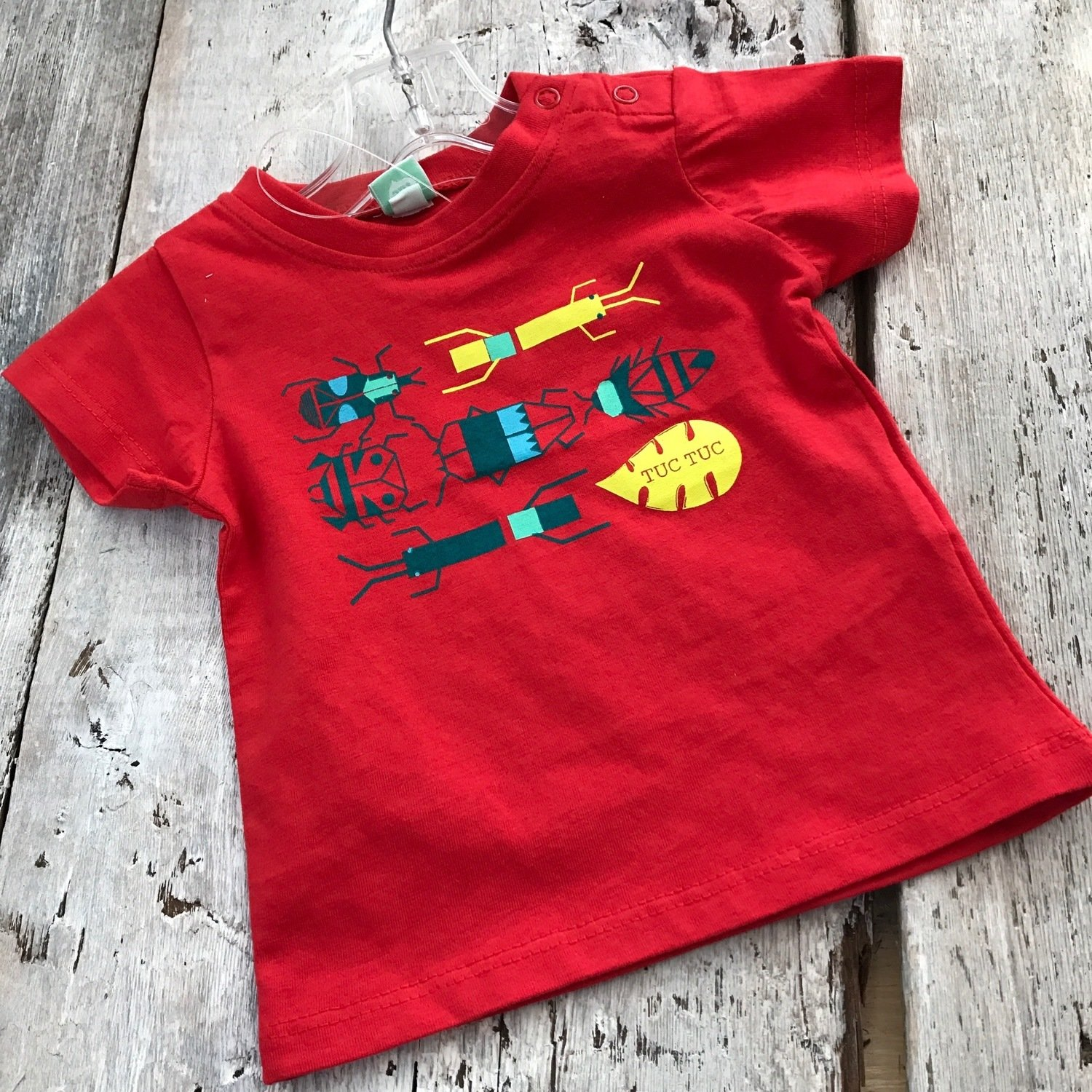 T-shirt Rouge Insectes
