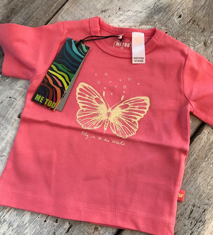 T-shirt Corail Avec Papillon