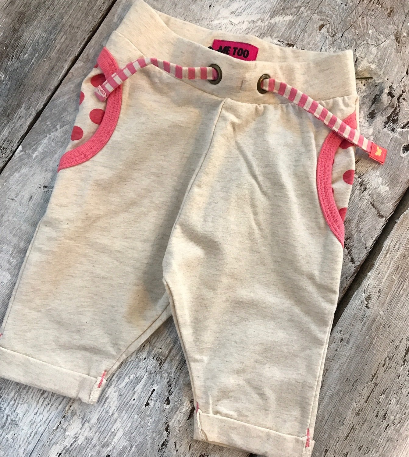 Leggings Beige/poche Rose