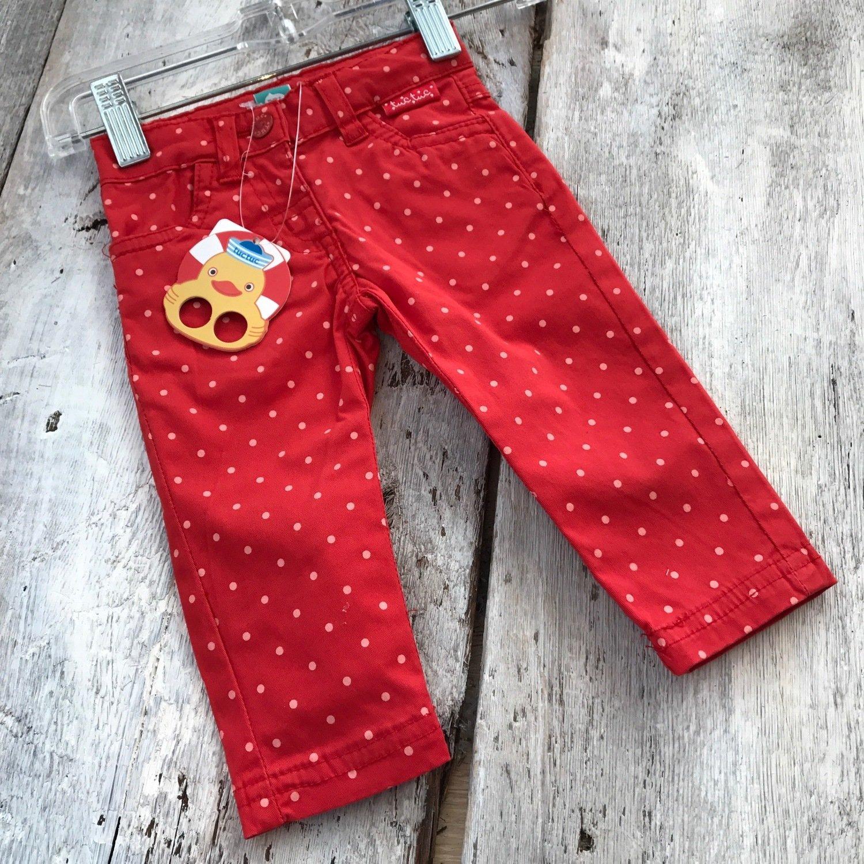 Pantalon Rouge A Pois