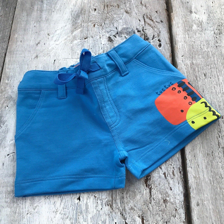 Short Bleu Poissons