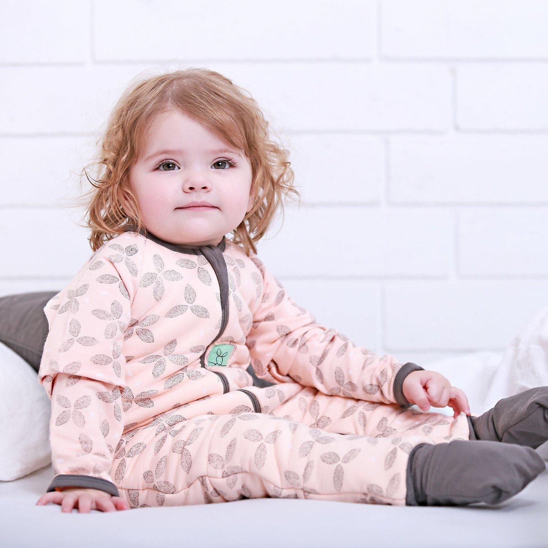 Pyjama Feuillage Gris/rose Corail