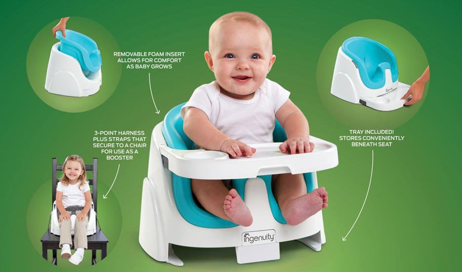 Chaise 'babybase' 2 en 1