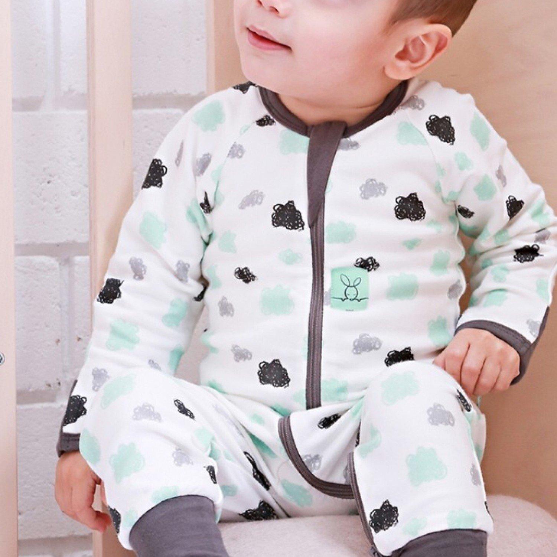 Pyjama Nuages Turquoise/gris
