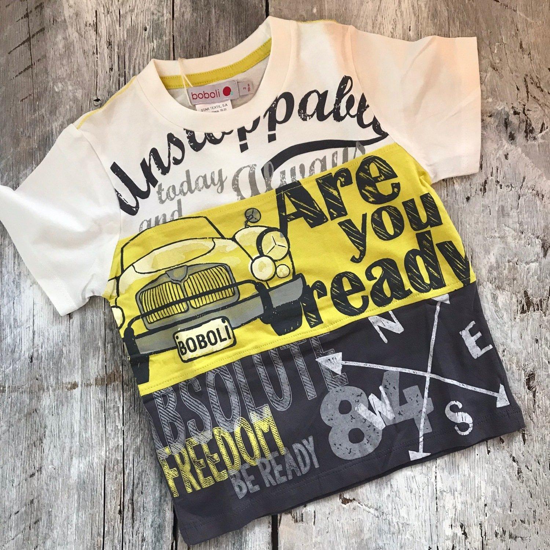 T-shirt Gris/jaune Voiture
