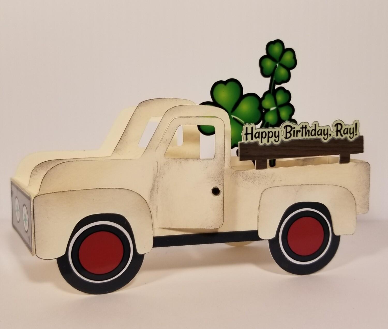 CUSTOM Old White Truck